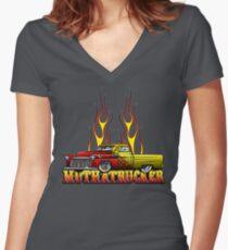 Mutha Trucker Women's Fitted V-Neck T-Shirt