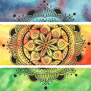 Watercolor mandala by josecabreraart