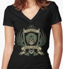 CADIA - ELITE EDITION-V2 Women's Fitted V-Neck T-Shirt