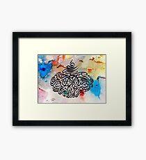 Bismillah Calligraphy Painting in Dewani Style Framed Print