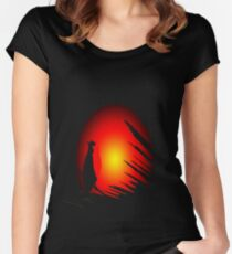 sundown Women's Fitted Scoop T-Shirt