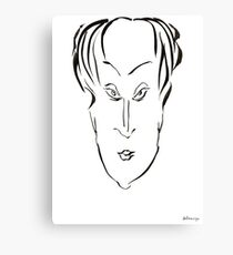 Abstract sketch of face X Canvas Print