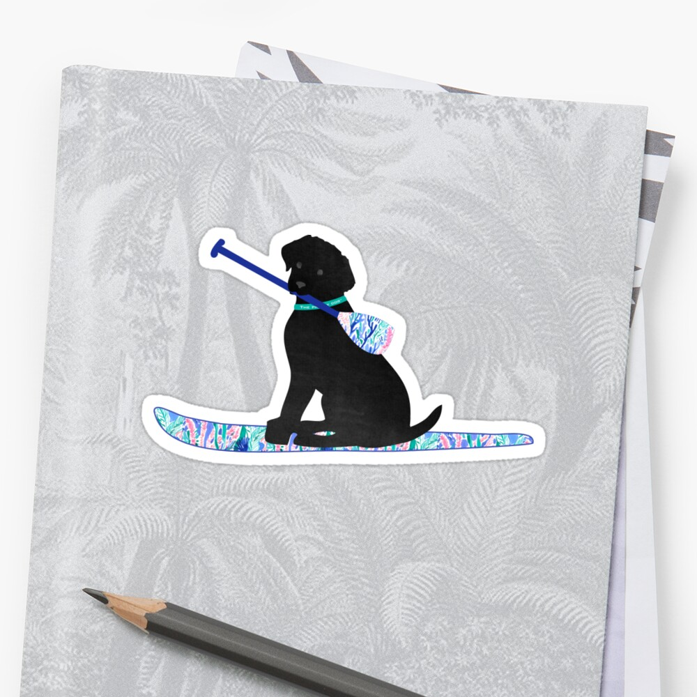 SUP Preppy Black Lab - Lilly Inspired Stand Up Paddle Board by emrdesigns