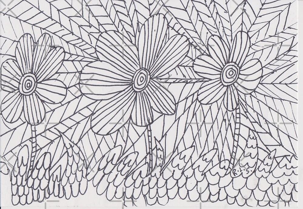 Art Thèrapie - flower 2 by ArtistRebeccaLS