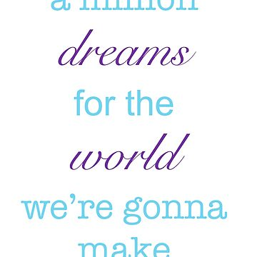 A Million Dreams Lyrics by Sarianne