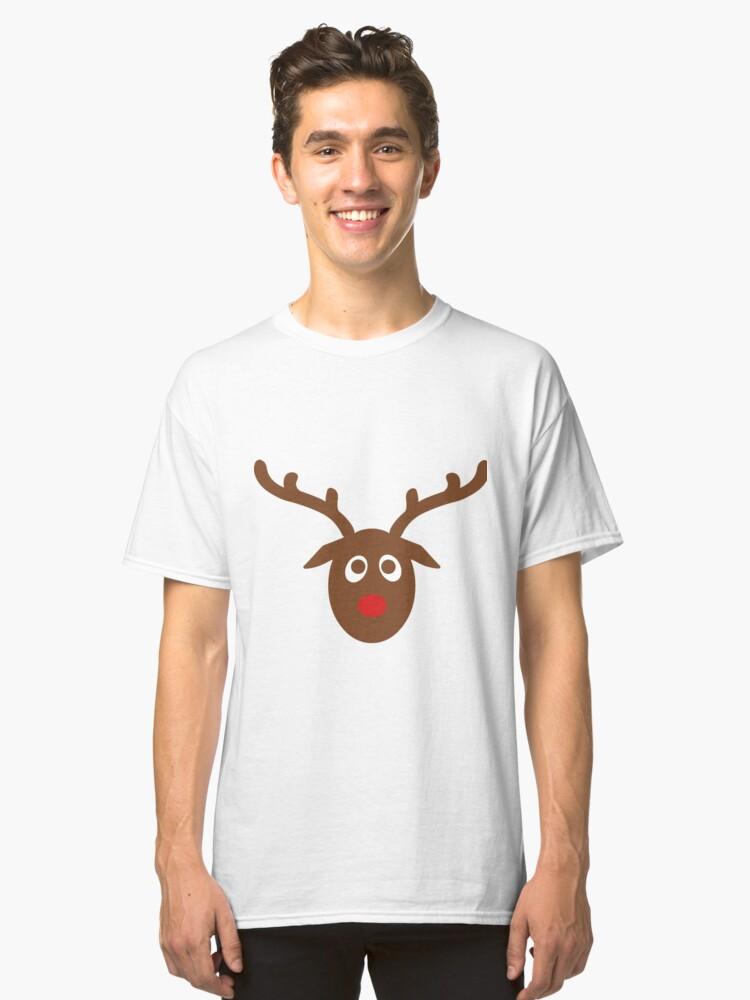 Reindeer Christmas Xmas Classic T-Shirt Front