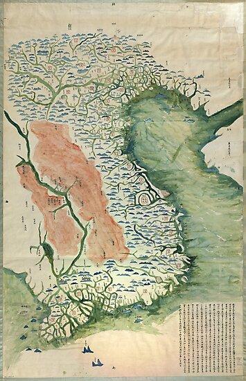 Yuenan Quan Jing Yu Tu (Map of Vietnam circa 1885) by allhistory