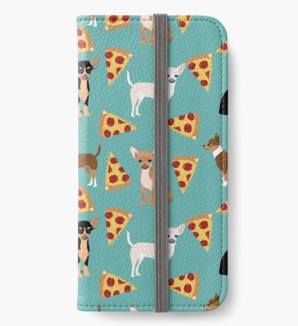 Chihuahua pizza dog breed pet pattern animal lovers iPhone Wallet