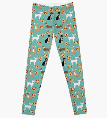 Chihuahua pizza dog breed pet pattern animal lovers Leggings