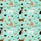 Chihuahua sushi dog breed pet pattern animal lovers by PetFriendly