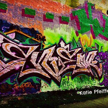 Graffiti Wall Tag Silver by Kater