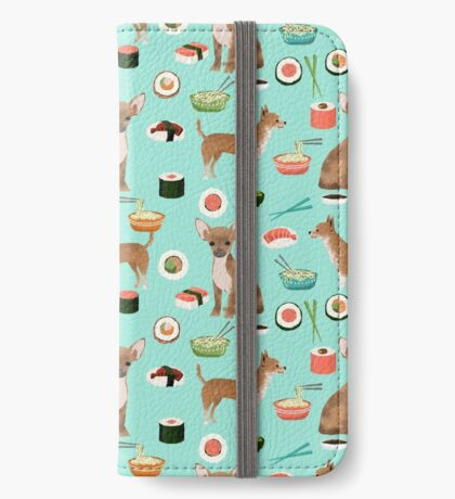 Chihuahua sushi dog breed pet pattern animal lovers iPhone Wallet