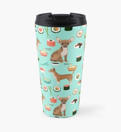 Chihuahua sushi dog breed pet pattern animal lovers Travel Mug