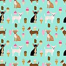 Chihuahua ice cream dog breed pet pattern animal lovers by PetFriendly