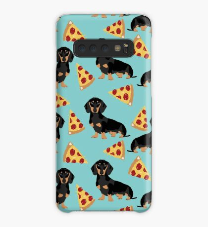 dachshund pizza dog breed pet pattern animal lovers Case/Skin for Samsung Galaxy