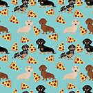 dachshund pizza dog breed pet pattern animal lovers by PetFriendly