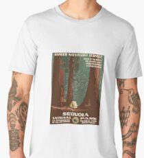 Vintage Travel Poster Sequoia National Park Men's Premium T-Shirt