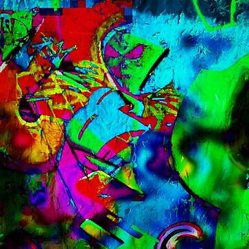 Spring Mood Hippie Abstract Graffiti by Kater