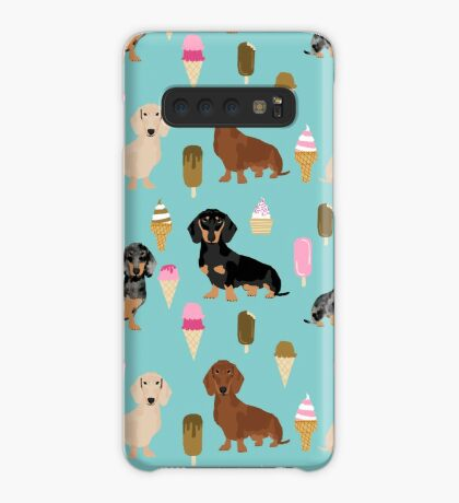 dachshund ice cream dog breed pet pattern animal lovers Case/Skin for Samsung Galaxy