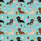 dachshund ice cream dog breed pet pattern animal lovers by PetFriendly