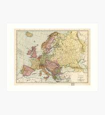 Atlas Map of Europe (1912) Art Print
