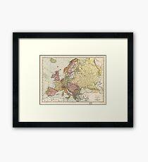 Atlas Map of Europe (1912) Framed Print