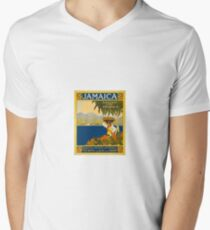 Jamaica The Gem Of The Tropics Vintage Travel Poster 1910 Men's V-Neck T-Shirt
