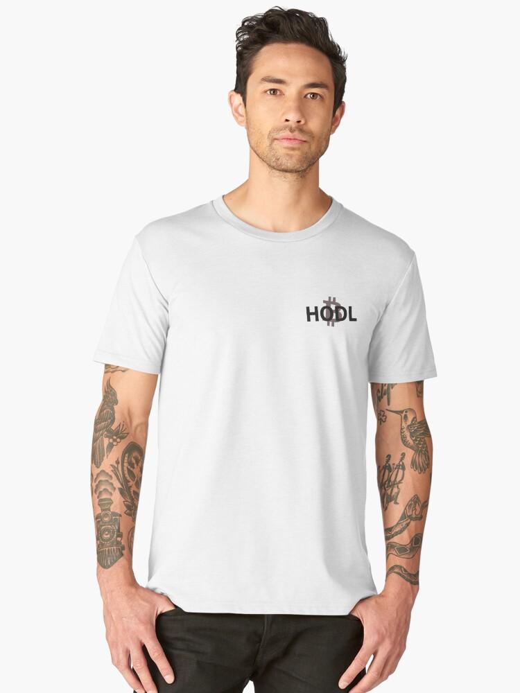 Bitcoin HODL  Men's Premium T-Shirt Front
