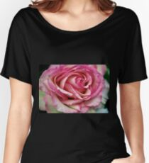Pink Rose Close up  II Women's Relaxed Fit T-Shirt