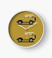 Land Cruiser FJ40 HardTop Mustard Yellow Clock