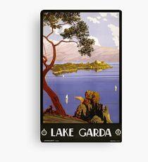 Vintage Travel Poster Lake Garda Italy 1924 Canvas Print
