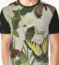Vintage Butterflies in Nature Illustration (1899) Graphic T-Shirt