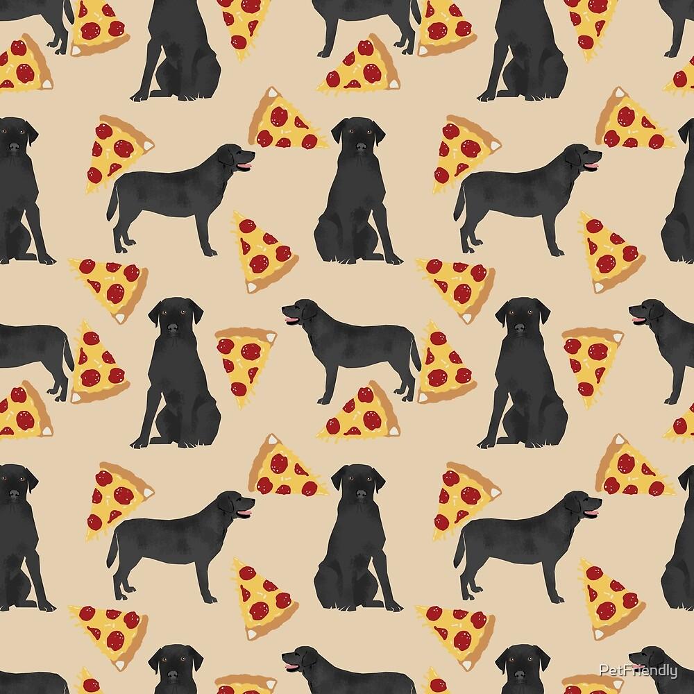 black lab labrador retriever pizza dog breed pet pattern animal by PetFriendly