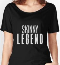 skinny legend (white) Women's Relaxed Fit T-Shirt