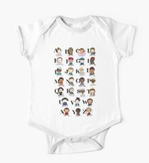 Awesome Woman Alphabet One Piece - Short Sleeve