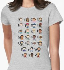 Awesome Woman Alphabet Women's Fitted T-Shirt