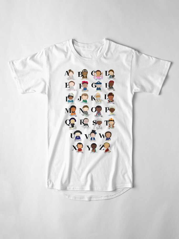 Alternate view of Awesome Woman Alphabet Long T-Shirt