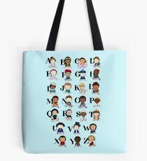 Fantastisches Frauen-Alphabet Tote Bag