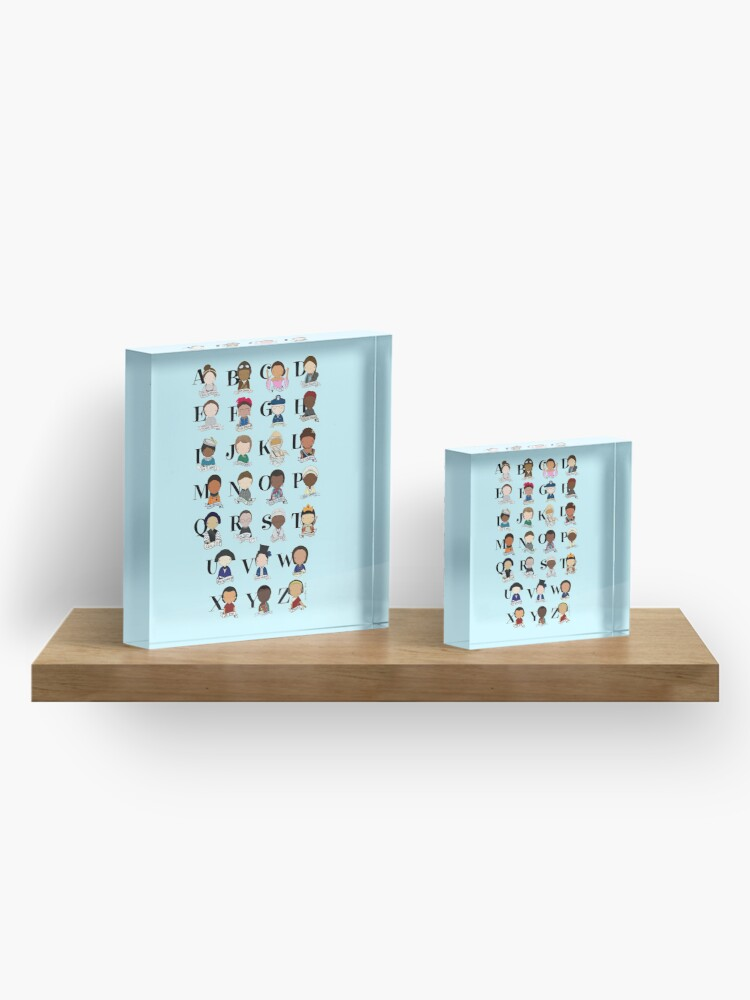Alternate view of Awesome Woman Alphabet Acrylic Block