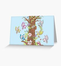 Coming Together - Birds Greeting Card