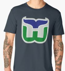 HARTFORD WHALERS HOCKEY RETRO Men's Premium T-Shirt