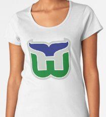 HARTFORD WHALERS HOCKEY RETRO Women's Premium T-Shirt