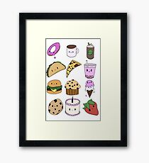Food Stickers Framed Print