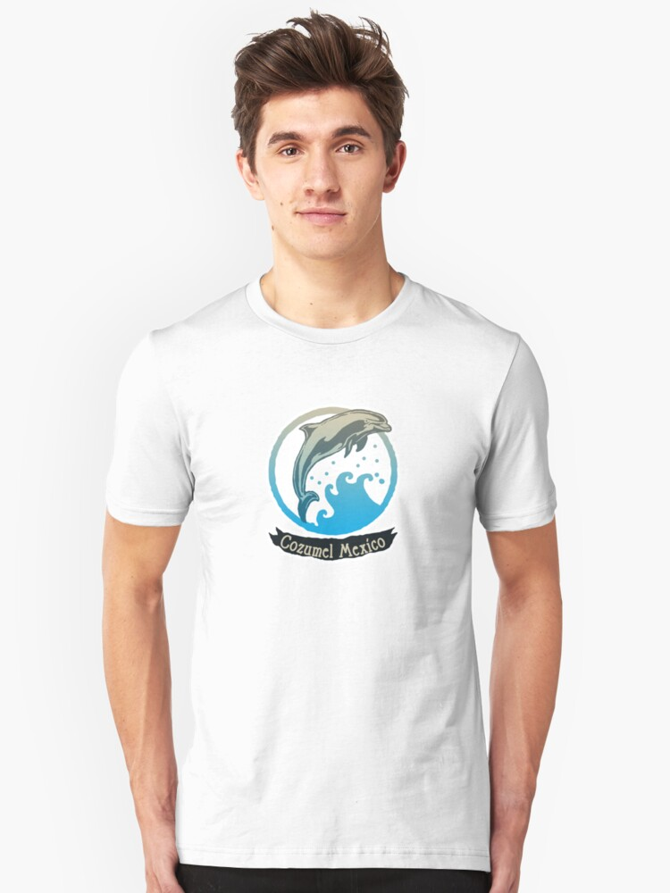 Cozumel Mexico Ocean Dolphin Unisex T-Shirt Front