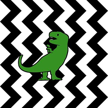 T-Rex Black Zigzag Pattern by jezkemp
