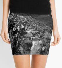 Gray Stone Mini Skirt