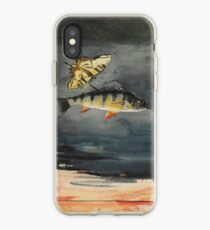 Vintage Winslow Homer Fish & Butterfly Painting (1900) iPhone Case