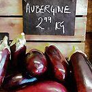 Aubergine Sales Display by Dorothy Berry-Lound