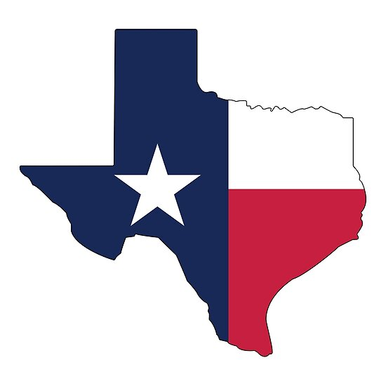 Quot Texas State Outline With Flag Quot Poster By Jpdesignsstuff