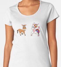 Your Aunt My Aunt Funny Cute dabbing Unicorn T-shirt  Women's Premium T-Shirt